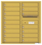 Florence 4C Mailboxes 4C09D-16 Gold Speck
