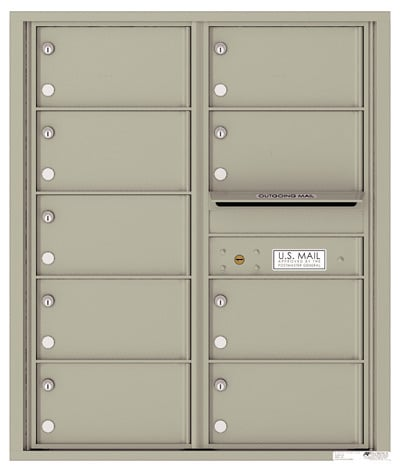 4C10D09 4C Horizontal Commercial Mailboxes