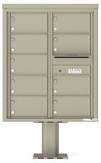 Florence 4C Pedestal 4C10D-09-P Postal Grey