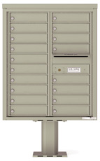 Florence 4C Pedestal 4C10D-18-P Postal Grey