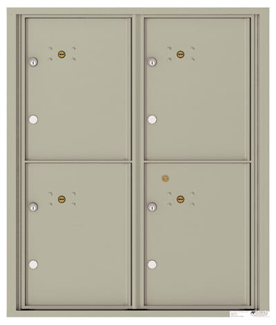 4C10D4P 4C Horizontal Commercial Mailboxes
