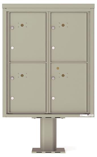 4C10D4P Parcel Lockers 4C Pedestal Mailboxes