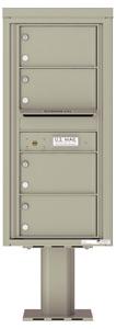 Florence 4C Pedestal 4C10S-04-P Postal Grey