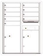 Florence 4C Mailboxes 4C11D-09 White