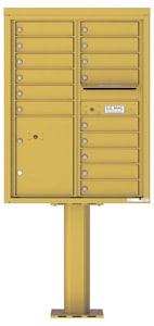 Florence 4C Pedestal 4C11D-15-P Gold Speck