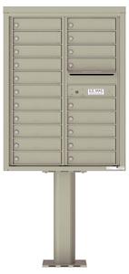 Florence 4C Pedestal 4C11D-20-P Postal Grey