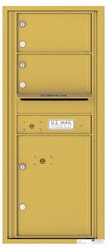 Florence 4C Mailboxes 4C11S-02 Gold Speck