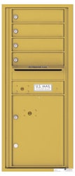 Florence 4C Mailboxes 4C11S-04 Gold Speck