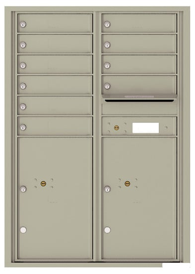 4C12D10 4C Horizontal Commercial Mailboxes
