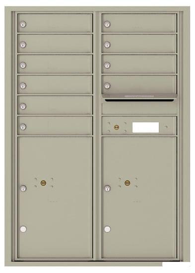 4C12D10 4C Horizontal Commercial Mailboxes