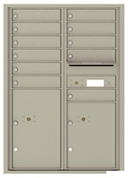 Florence 4C Mailboxes 4C12D-11 Postal Grey