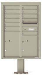 Florence 4C Pedestal 4C12D-11-P Postal Grey