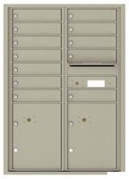 Florence 4C Mailboxes 4C12D-12 Postal Grey