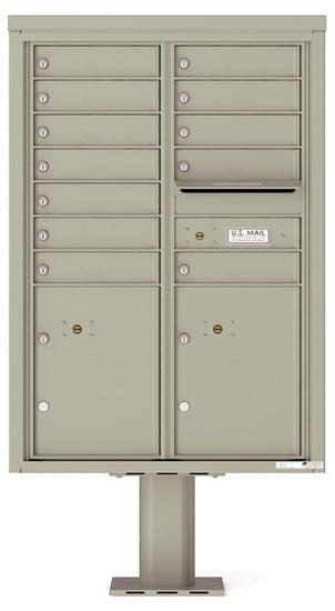 4C12D12-P Commercial 4C Pedestal Mailboxes