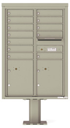 Florence 4C Pedestal 4C12D-12-P Postal Grey