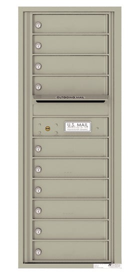 4C12S10 4C Horizontal Commercial Mailboxes
