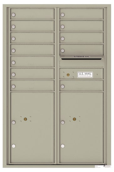 4C13D12 4C Horizontal Commercial Mailboxes