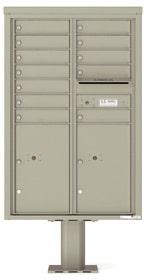 Florence 4C Pedestal 4C13D-12-P Postal Grey