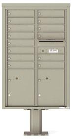 Florence 4C Pedestal 4C13D-14-P Postal Grey