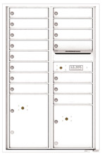 Florence 4C Mailboxes 4C13D-15 White