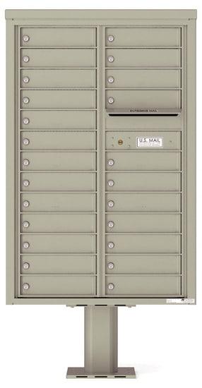 4C13D24-P Commercial 4C Pedestal Mailboxes