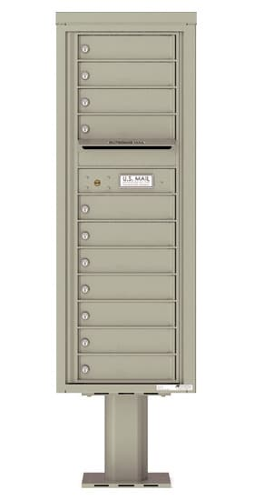4C13S11-P Commercial 4C Pedestal Mailboxes