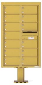 Florence 4C Pedestal 4C14D-13-P Postal Grey