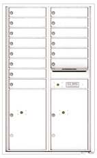 Florence 4C Mailboxes 4C14D-14 White