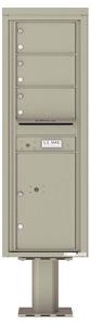 Florence 4C Pedestal 4C14S-03-P Postal Grey