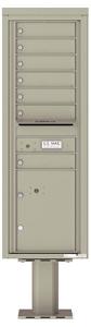 Florence 4C Pedestal 4C14S-07-P Postal Grey