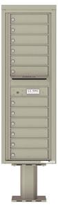 Florence 4C Pedestal 4C14S-12-P Postal Grey