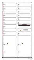 Florence 4C Mailboxes 4C15D-16 White