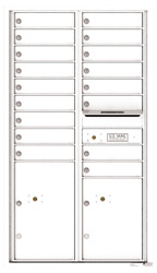 Florence 4C Mailboxes 4C15D-17 White