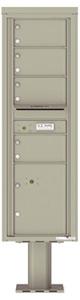 Florence 4C Pedestal 4C15S-04-P Postal Grey
