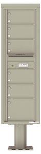 Florence 4C Pedestal 4C15S-06-P Postal Grey