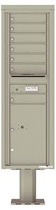 Florence 4C Pedestal 4C15S-07-P Postal Grey