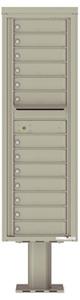 Florence 4C Pedestal 4C15S-13-P Postal Grey
