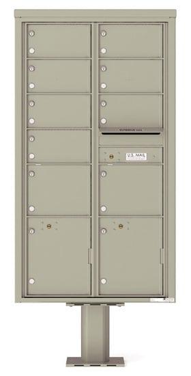 4C16D09-P Commercial 4C Pedestal Mailboxes