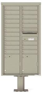 Florence 4C Pedestal 4C16D-20-P Postal Grey