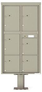 Florence 4C Pedestal 4C16D-6P-P Postal Grey