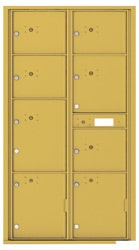 Florence 4C Mailboxes 4C16D-8P Gold Speck