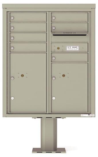 4CADD07-P Commercial 4C Pedestal Mailboxes