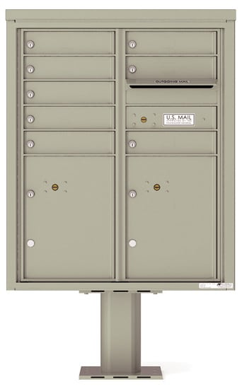 4CADD08-P Commercial 4C Pedestal Mailboxes