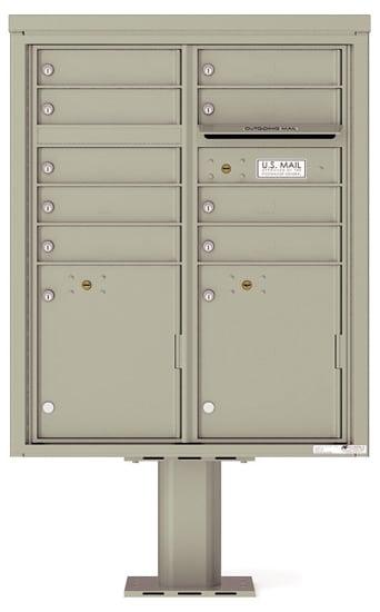 4CADD09-P Commercial 4C Pedestal Mailboxes