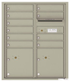 Florence 4C Mailboxes 4CADD-10 Postal Grey