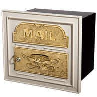 Gaines Classic Faceplate Mailbox Almond Brass