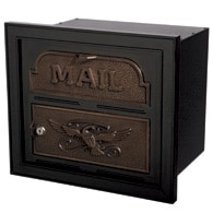 Gaines Classic Faceplate Mailbox Black Bronze
