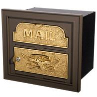 Gaines Classic Faceplate Mailbox Bronze Brass