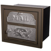 Gaines Classic Faceplate Mailbox Bronze Nickel