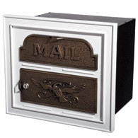 Gaines Classic Faceplate Mailbox White Bronze